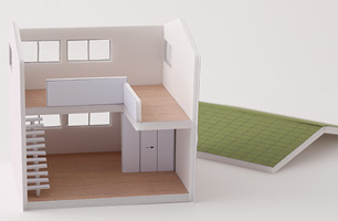 建築模型の制作体験